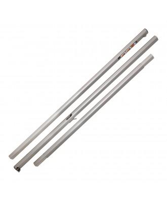 Mast Aluminium komplett - Farbe: Alu mit Beschlägen ohne Seilen und Wanten